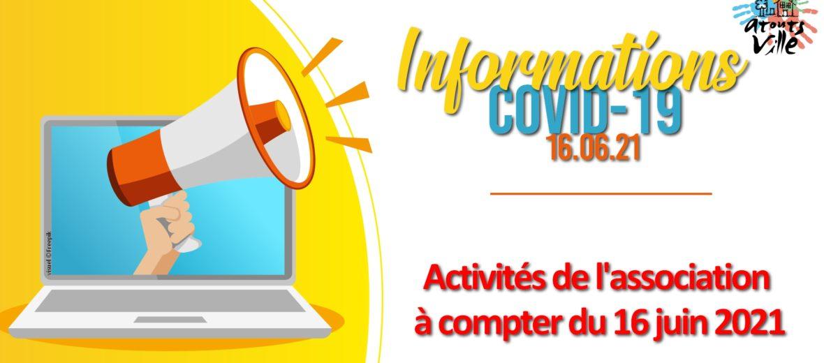 CORONAVIRUS - INFOS 16.06